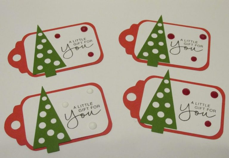 Creating Christmas Tags from Scraps