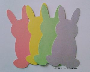 pastel bunnies cut from free SVG file