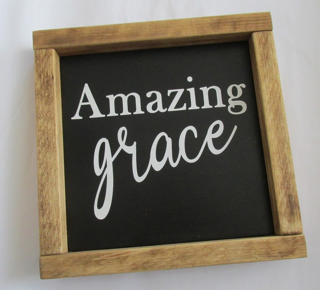 Farmhouse Decor Sign: Amazing Grace   Say It With Simplicity