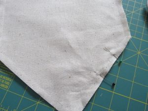 how to sew a diy muslin banner from thrift store fabric