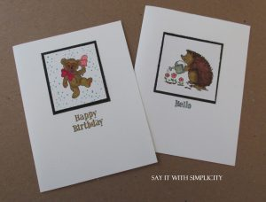 Quick and easy cards with thrift store stamps