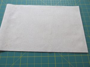 how to make a diy banner out of thrift store muslin