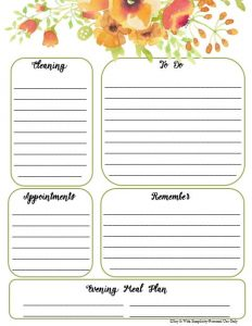free daily checklist printable in colorful floral