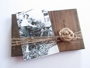 how to make a rustic photo frame