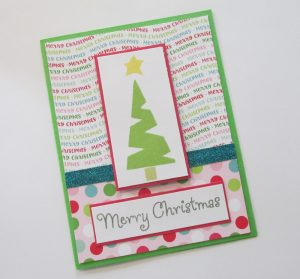card made with craft foam handmade stamps