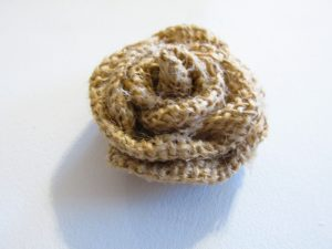 hand made burlap rose