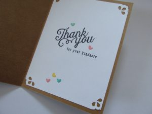 Inside of Simon Says Stamp August Card Kit handcrafted card