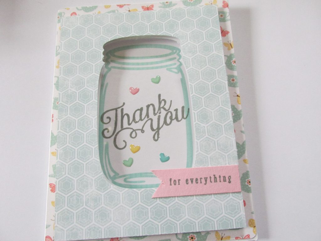 Finished mason jar card from the Simon Says Stamp Kit