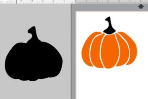 How to use free pumpkin SVG in Silhouette Studio