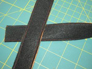 making the diy Trick or Treat bag handles