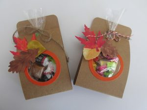 easy Halloween Treat Bags or Autumn Party Favors