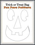 Jack O Lantern face for Felt DIY TRICK or TREAT bag