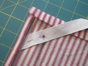 adding a twill loop farmhouse towel tutorial