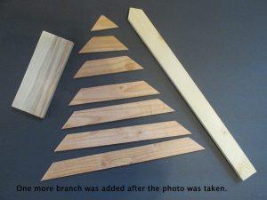 cutting list scrap wood Christmas tree