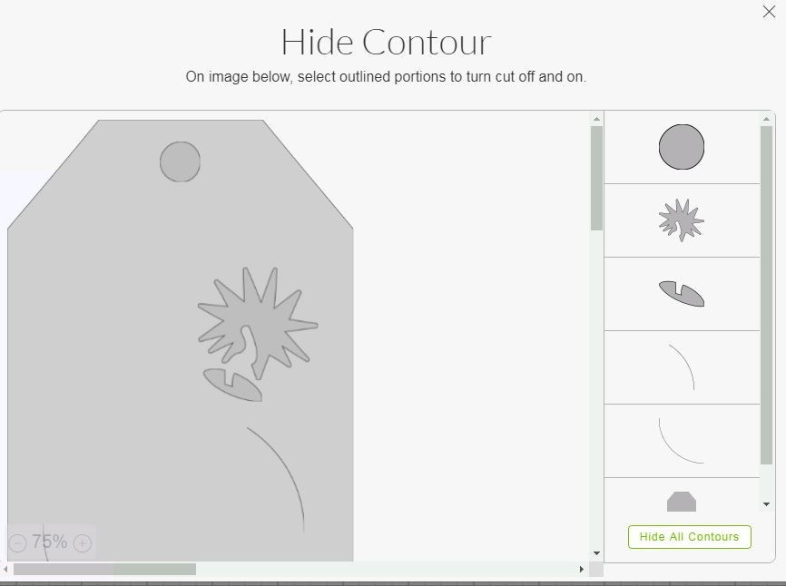 Hide Contours in Design Space