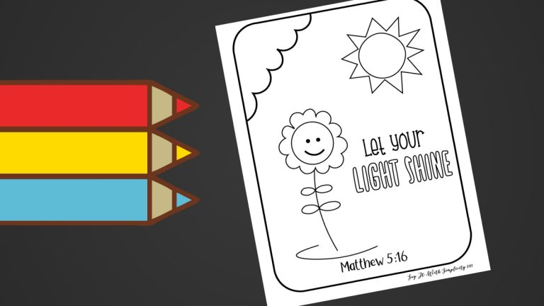 Matthew 5:16 Kids Coloring Page