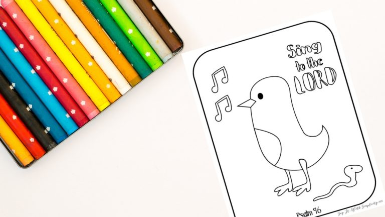 Psalm 96 Kid's Printable Coloring Page