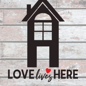 love-lives-here-vector-graphic