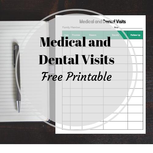 medical-dental-visits-printable