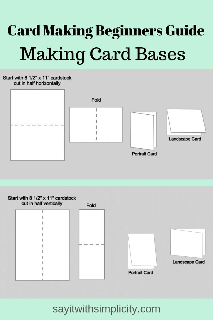 Card Making Basics-Blank Card Base