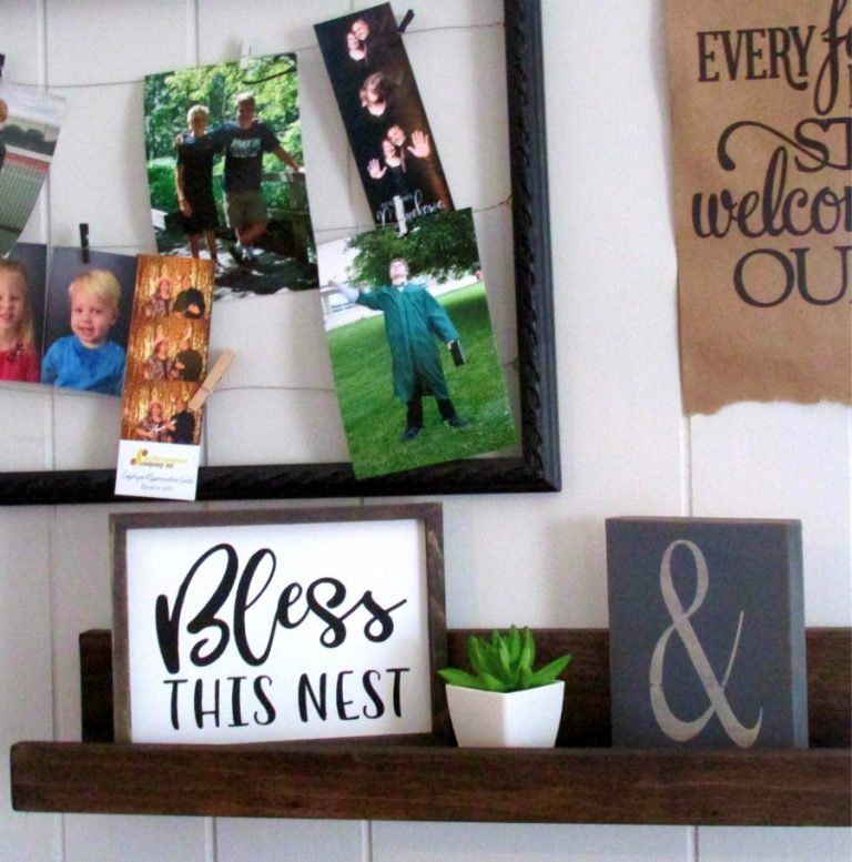 """""""Bless This Nest"""" Stenciled Canvas DIY"""