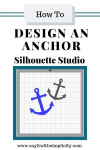 draw an anchor in silhouette studio