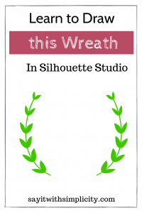 draw wreath silhouette studio