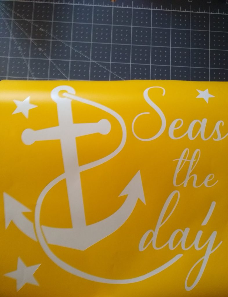 seas the day wood sign stencil