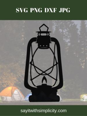 rustic lantern svg