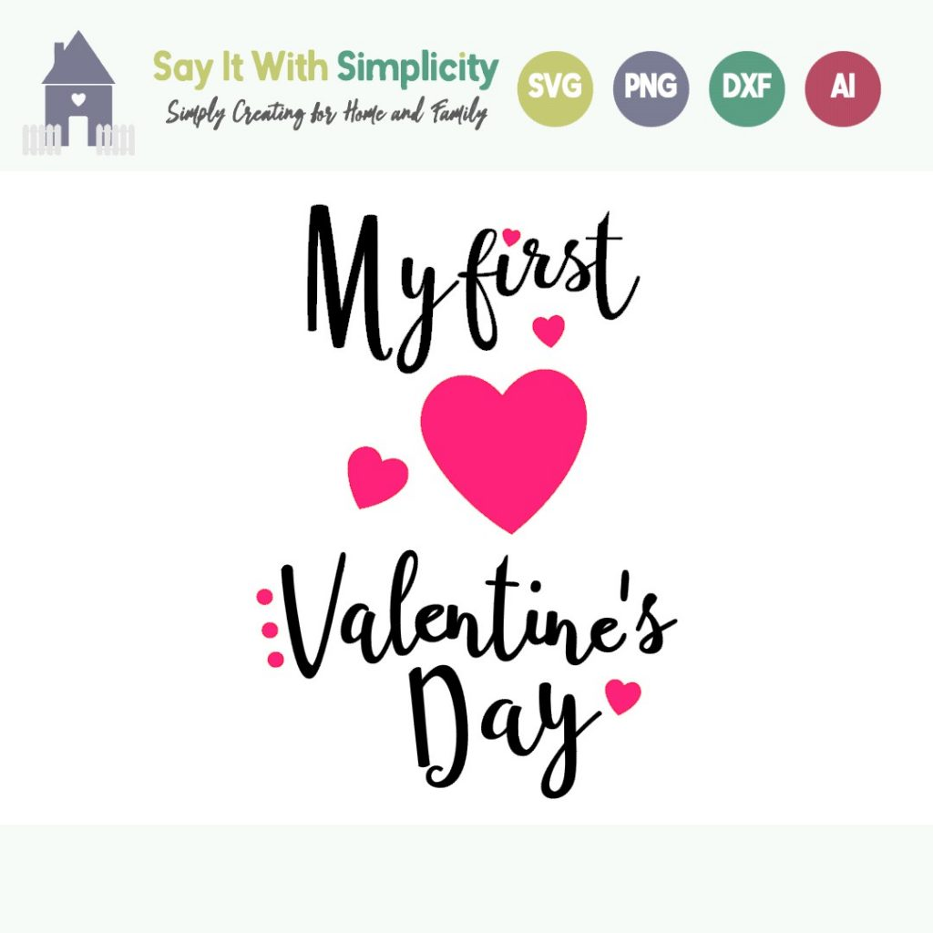 my first valentines day  svg