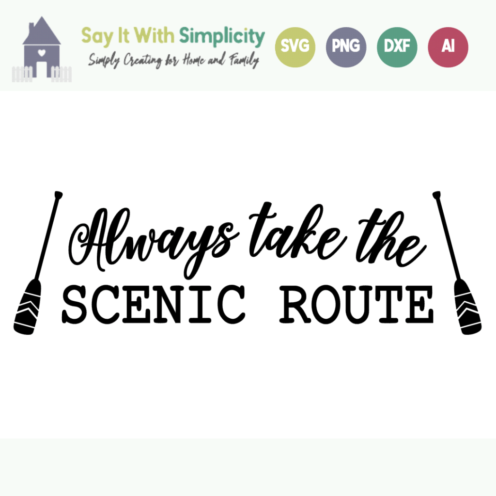 take the scenic route svg
