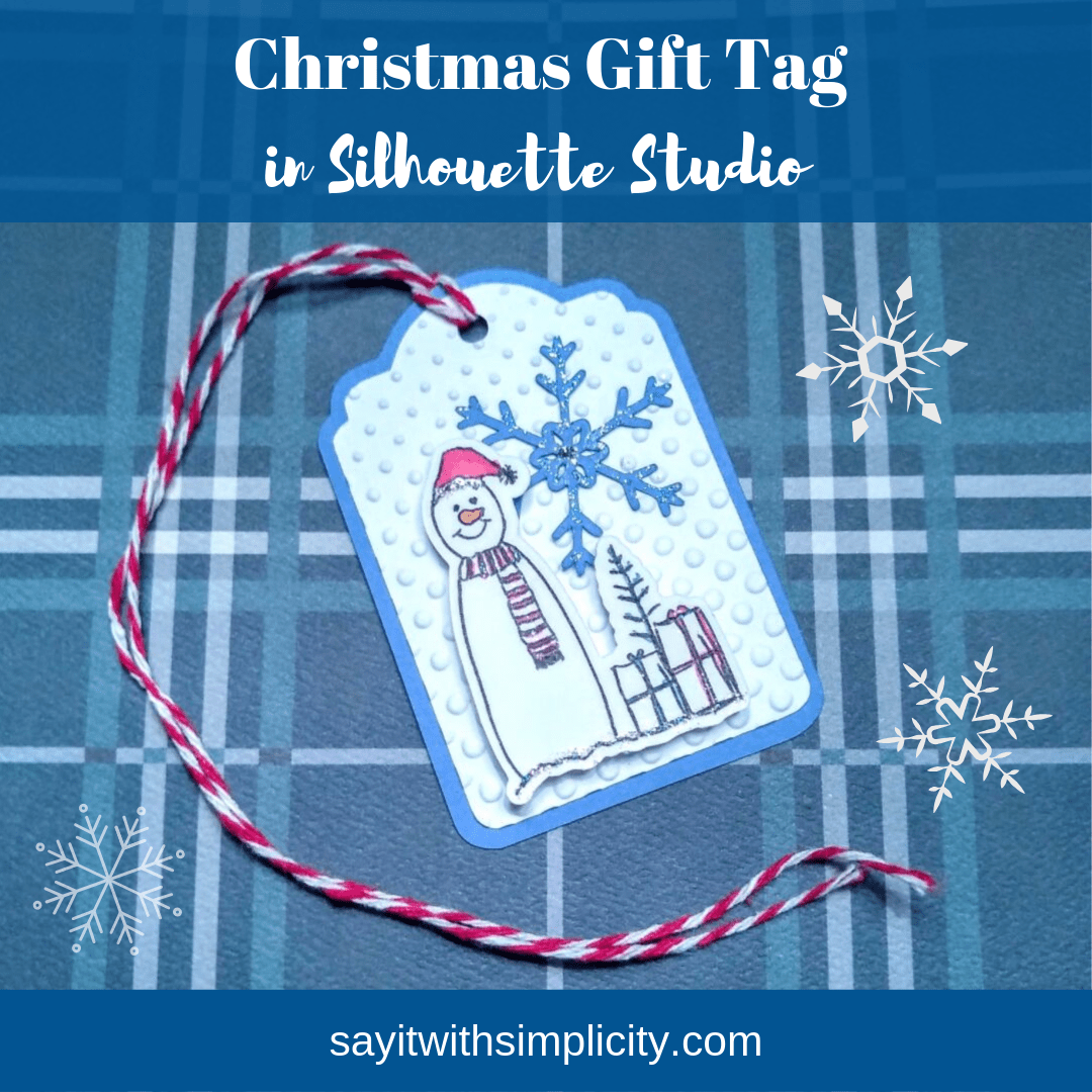 snowflake cut file and snowman tag