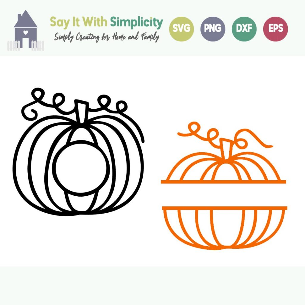 pumpkin monograms free svg file