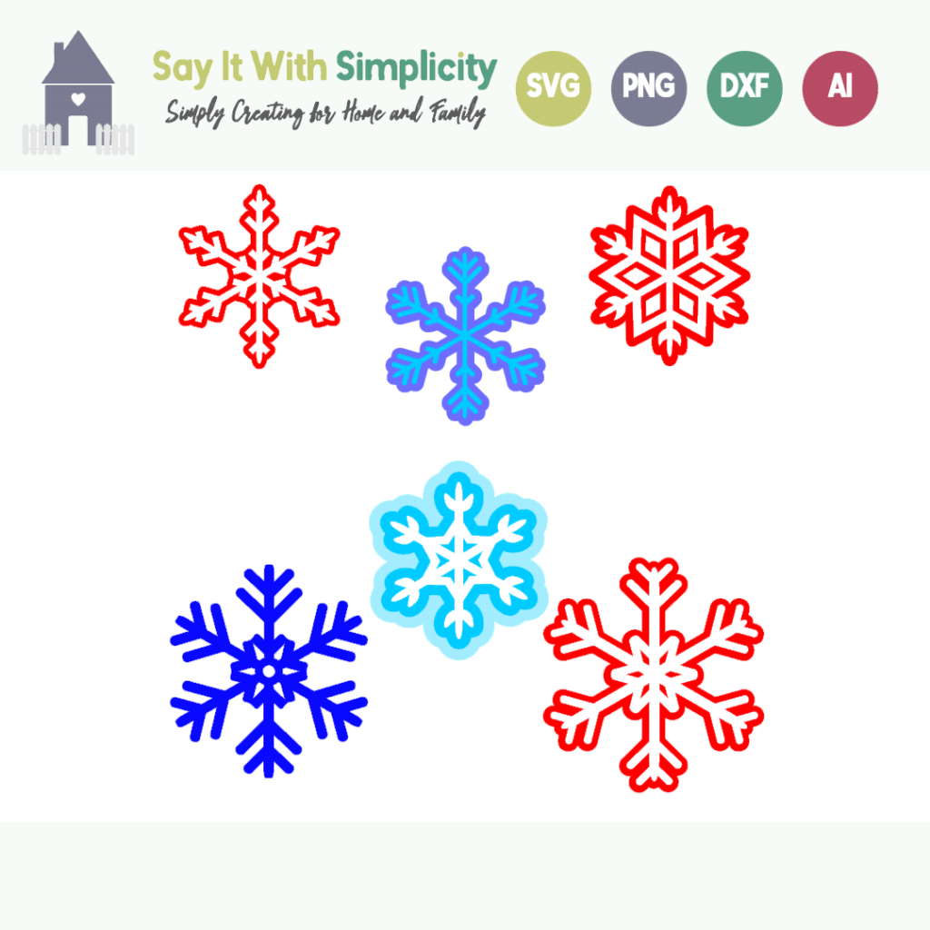 six-snowflakes-free-svg-file
