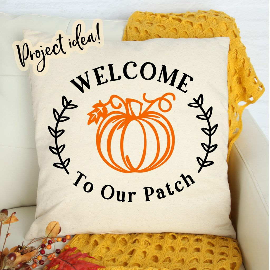 welcome to our patch free svg file project idea pillow