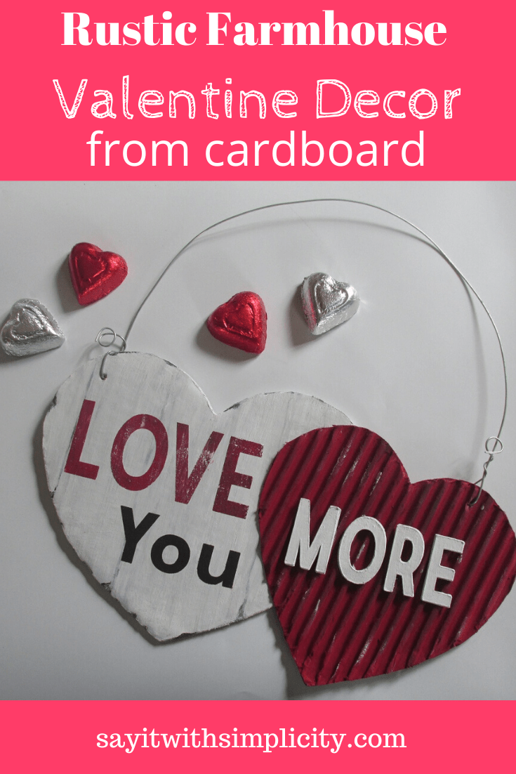Rustic Valentine Cardboard Craft