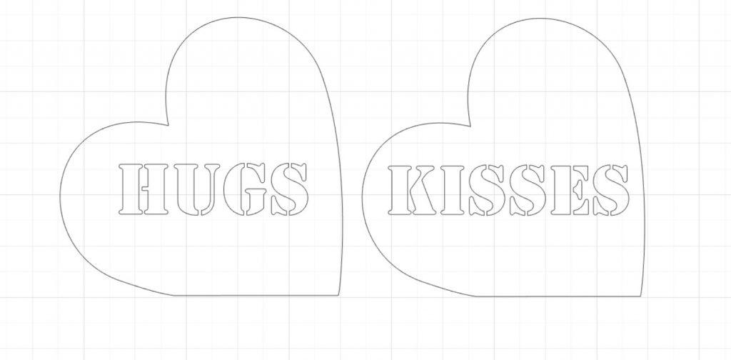 scrap wood heart stencils
