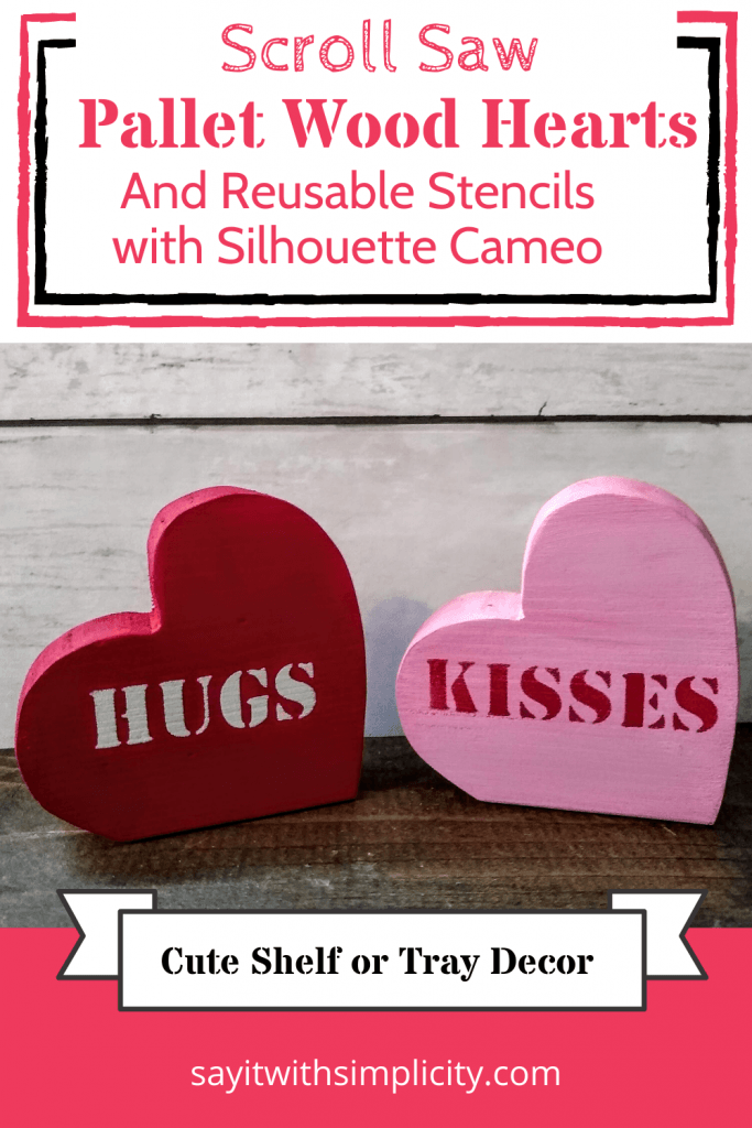 Pinterest image stenciled hearts