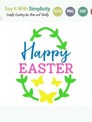 Happy Easter svg