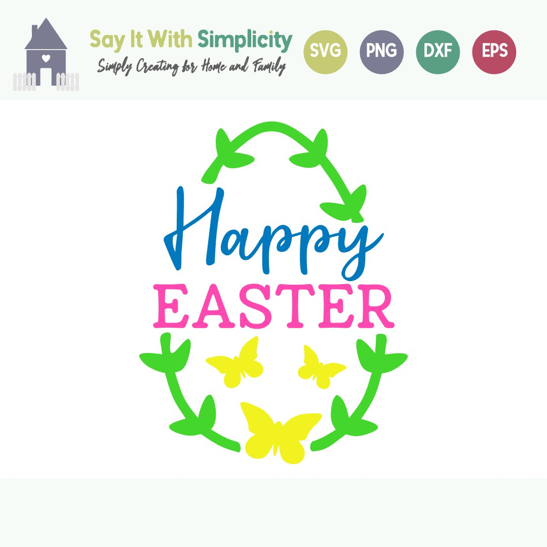 Happy Easter svg