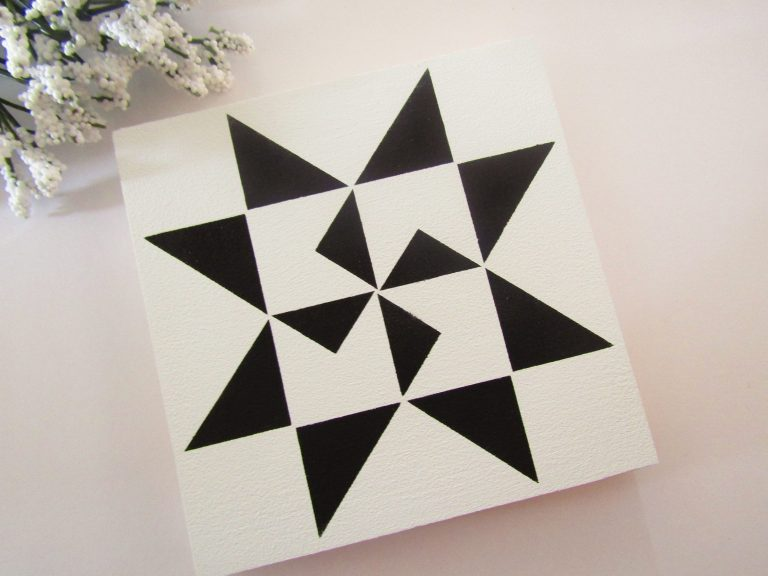 DIY Painted Quilt Square Block with Free SVG