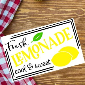 Lemonade Sign SVG