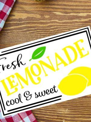 Lemonade Sign SVG