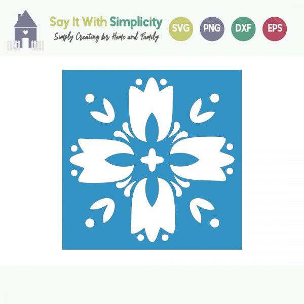 Folk Art Inspired SVG
