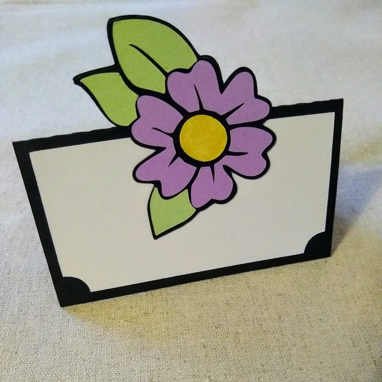 Place Card DIY and Teapot Table Favor