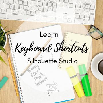 silhouette studio keyboard shortcuts