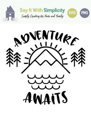 adventure awaits svg image