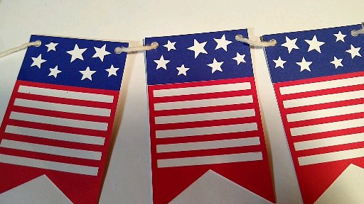 Assembled July 4th pennant banner