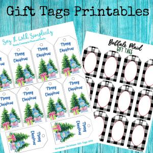 making printables gift tags