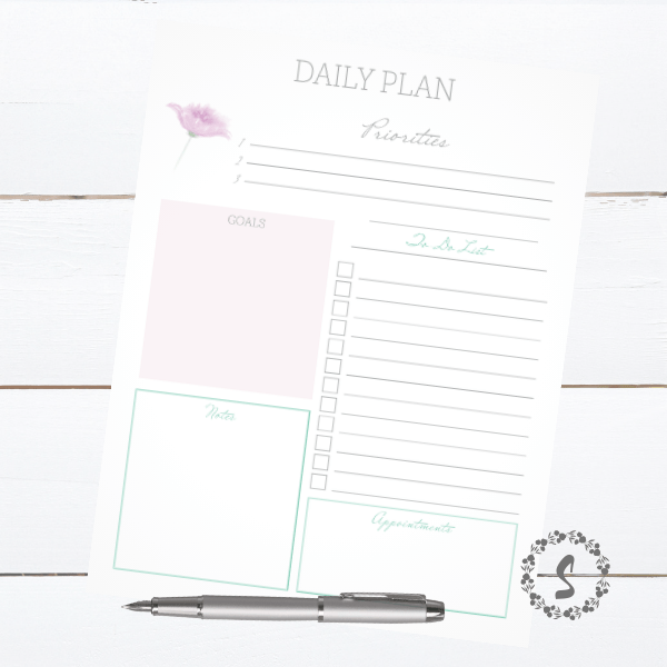 photo link to printable planner page